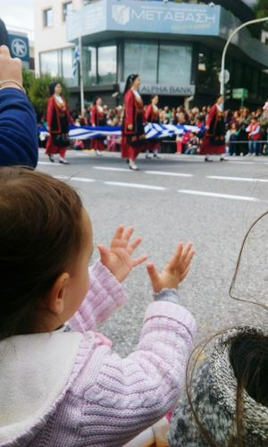 Captured Moment Capture The MomentAthens GreeceParade Check This Out Hellas Enjoying Life Hello World Traditional Traditional Parade Babygirl People Watching Enjoying The View Greece