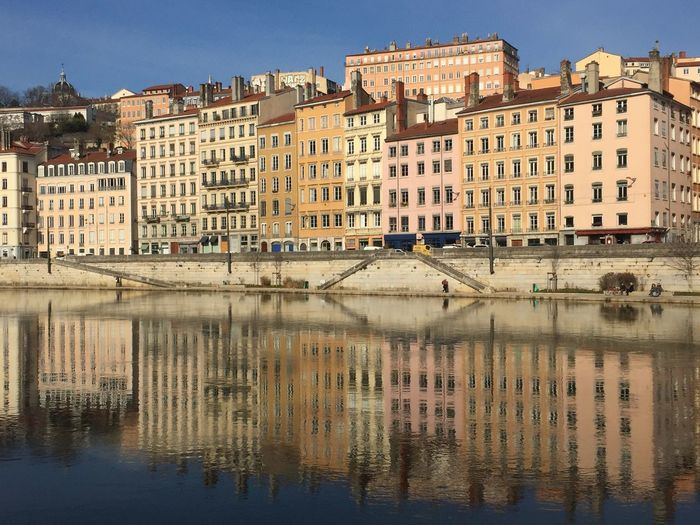 Lyon Building Exterior Architecture Built Structure Water Building Waterfront Reflection Transportation Day Clear Sky No People Nature Outdoors Travel Destinations Residential District