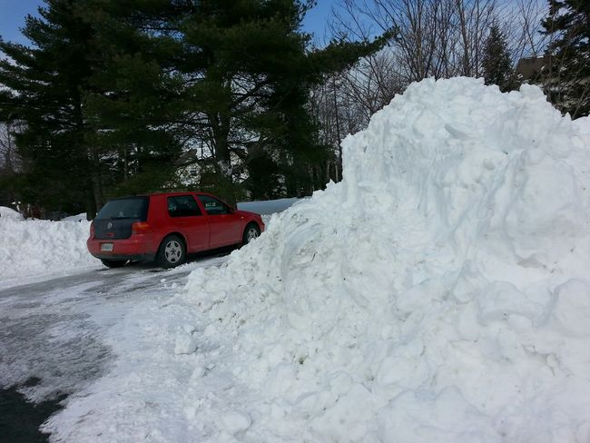 Yikes! And another storm on the way! Snow ❄ Snowy Snow Bank Lotsosnow