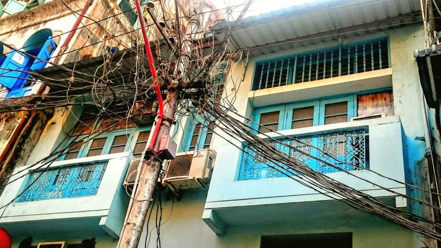 Human Meets Technology Cable Tree Electricity Pole Cables And Wires Yangon Rangoon Colonial Yangon Kabelsalat Electricity Downtown Yangon Myanmar Burma Birma Showing Imperfection Tradition Meets Modern Envision The Future