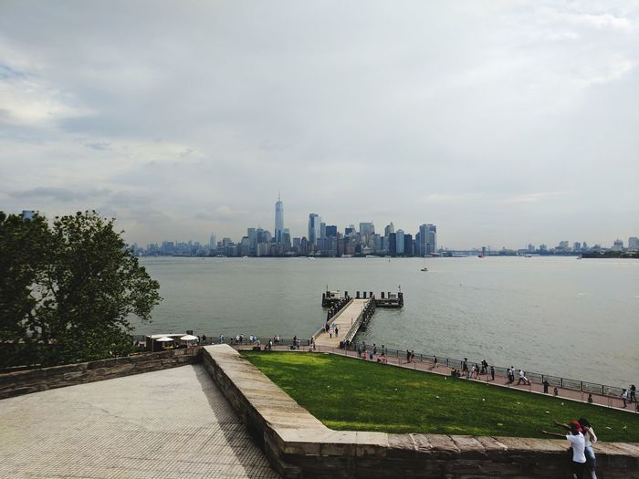 Travel Destinations Urban Skyline Architecture Cloud - Sky History Cityscape Water New York New York City Freedom Liberty Island Downtown Downtown Nyc Financial District  Travel
