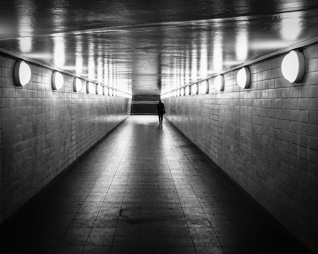on Transit ... Absence Berlin Connection Depth Of Field Diminishing Perspective Fußgänger Tunnel Incidental People Lampen Lamps Leading Long Pedestrian Tunnel Railroad Station Real People Reflection S-bahnhof Selective Focus Showcase: January Streetphoto_bw The Way Forward Tunnel Urbanphotography Vanishing Point Walking Walkway
