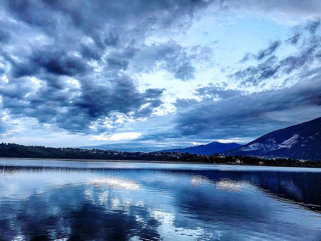 Water Sky Cloud - Sky Scenics - Nature Beauty In Nature Reflection Nature No People Tranquility Sea Tranquil Scene Night Environment Outdoors Nautical Vessel Landscape Travel Destinations Blue