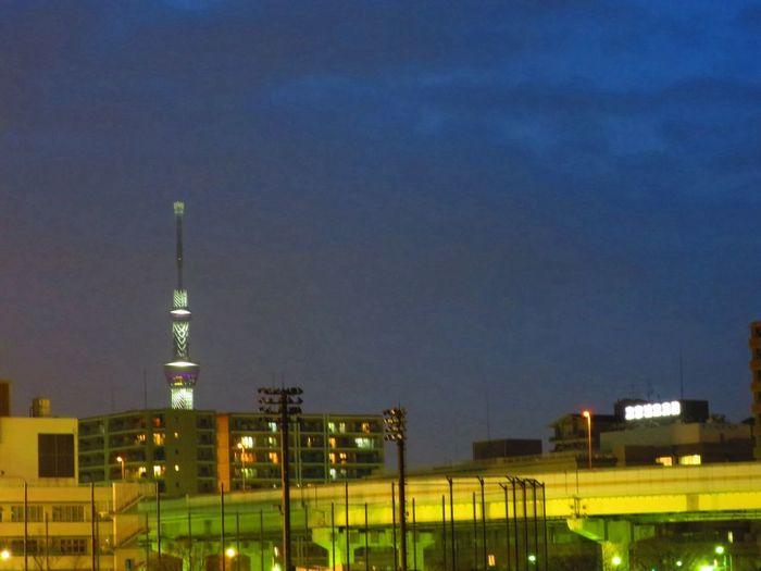 お疲れさま。 Canon S120 Twilight Sun Set Tokyo Sky Tree