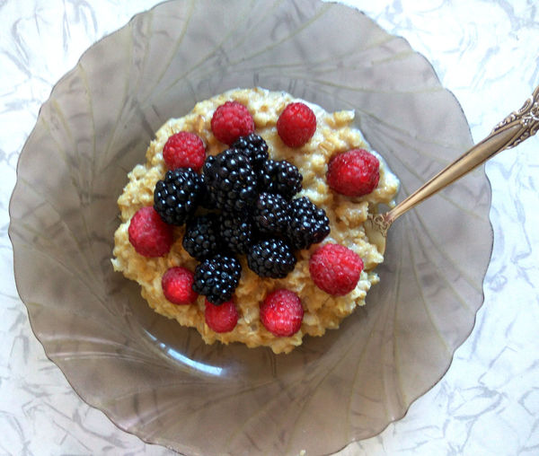 Berry Fruit Blackberry - Fruit Children Food Dessert Food Fruit No People Oatmeal Raspberry Sweet Food