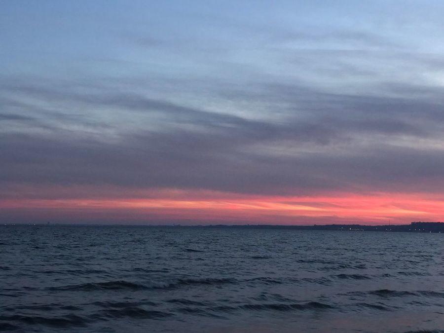 Sea Sunset Beauty In Nature Scenics Tranquility Tranquil Scene Nature Horizon Over Water Sky Water Idyllic No People Cloud - Sky Outdoors