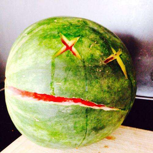 Melon Fruit Dead And Sad Redgreen Melone Rotgrün Gameover