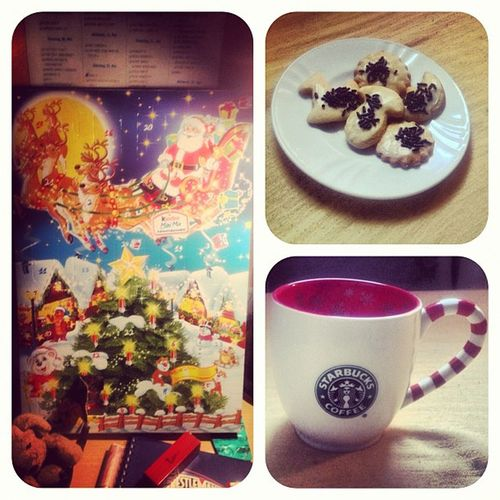 Happy 1st December. oder so :) Adventcalendar Coffee Cookies Starbucks Advent Adventskalender December Calendar Mug
