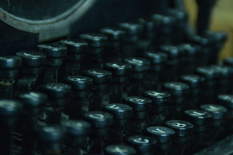 Full frame shot of typewriter