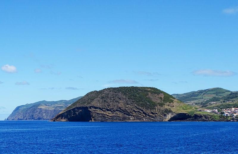 Ba Nature Scenics Azores Water Blue Sky Rock Formation Rocky Coastline Natural Arch Shore