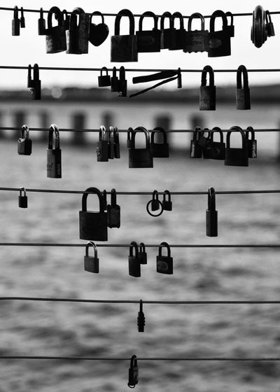 Padlocks Attached In Railing