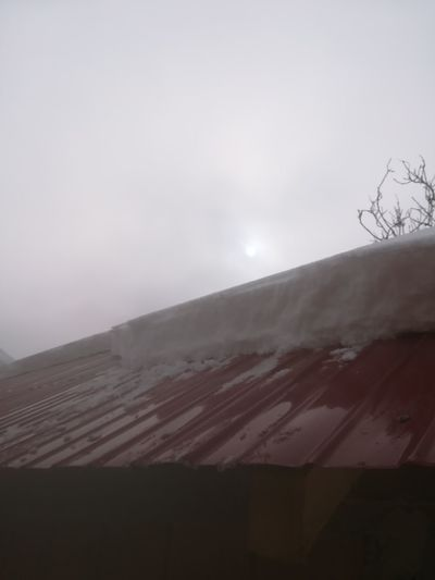 Snow ❄ Roof Snow Cleaning Dawn Of A New Day Dawn Dawn