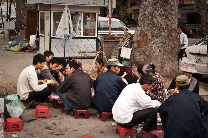 People in market