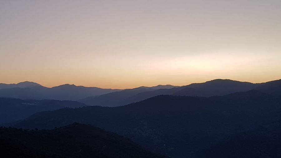 Mountain Nature Sunset Landscape Morning Beauty In Nature Mountain Range Outdoors Tranquility Sky No People Travel Destinations Silhouette Benalauria Andalusien Spanien S8plus S8+ S8plusphotography Canoma Photography Lost In The Landscape