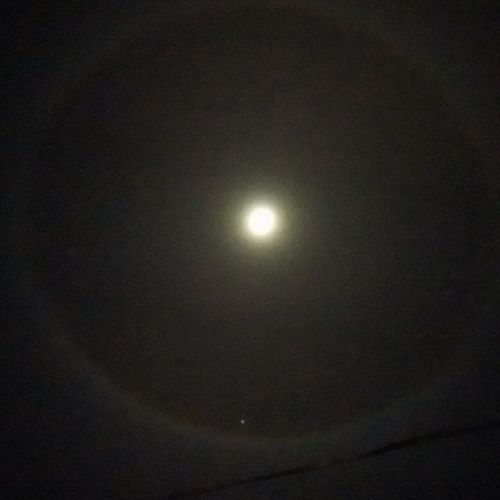 Ringofmoon Sky And Clouds Moonhalo