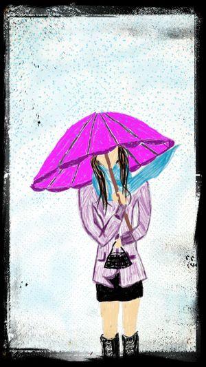 Sketchbookmobile Rain Day Drawing Relaxing is yerinden can sıkıntısı resim 2