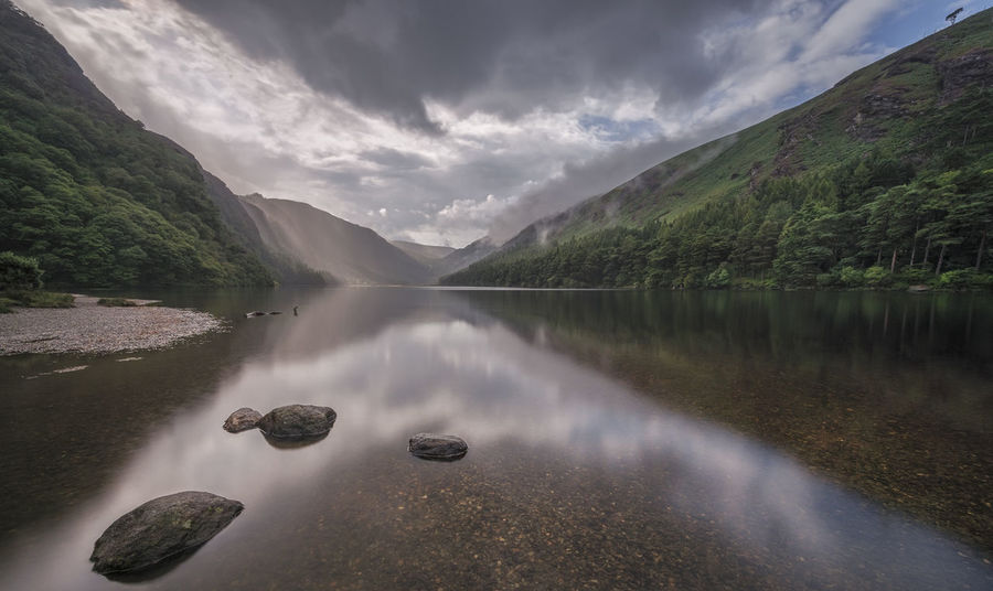 Ireland Beauty In Nature Cloud - Sky Day Glendalough Idyllic Lake Mountain Nature No People Outdoors Reflection Scenics Sky Tranquil Scene Tranquility Water