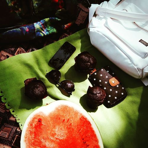 Picnic Picnic With Friends Watermelon Chocolate Cakes Tasty Sunny Day My City Outside
