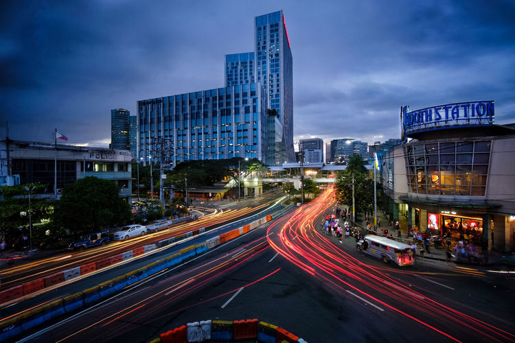 Alabang rush hour #fujifilmph #fujifilmph #longexposure #longexposure_shots ##xpphxgrid #mirrorlessrevolution City Cityscape Urban Skyline Illuminated Modern Skyscraper Futuristic Rush Hour Road Motion