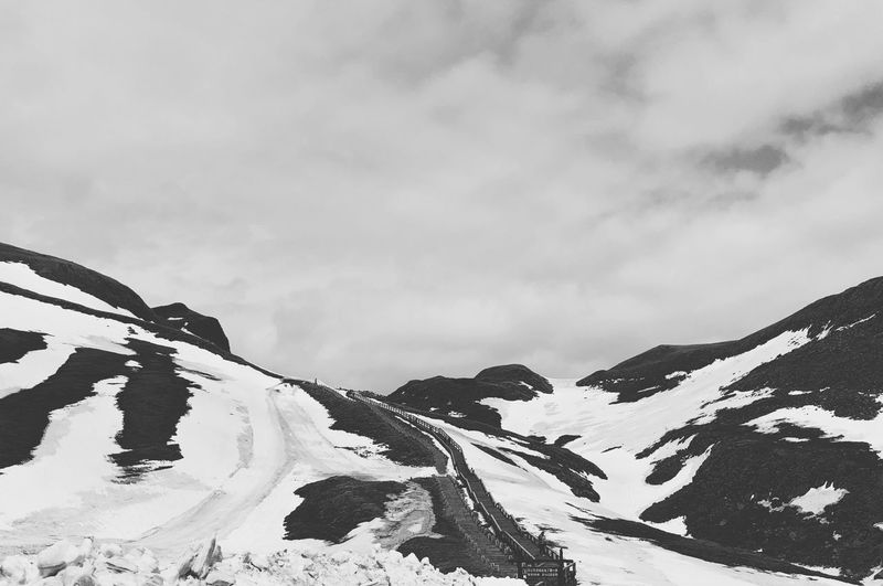 Changbai Mountain IPhone X IPhoneography Blackandwhite Landscape Nature Cloud - Sky Sky Day Low Angle View No People Snow Mountain