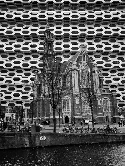 Westerkerk Westerkerk Amsterdam The Netherlands Pixlromatic Snapseed Eyem Chartastik Photography App Stacking Built Structure Pattern Architecture No People Building Exterior Wet Design City Rain Backgrounds
