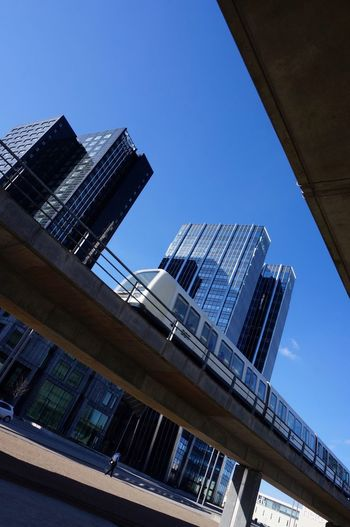 Copenhagen Towers n the metro train Look Up And Thrive Blue Sky Cityscape City Life City Train Railway Ladyphotographerofthemonth Skyscrapers Architecture_collection ørestad Denmark Copenhagen Eyeem Architecture Copenhagen Towers Metro Built Structure Architecture Building Exterior Low Angle View Blue Clear Sky City Building Day Tall - High Skyscraper Office Building Exterior Tower Sunlight Go Higher Visual Creativity The Architect - 2018 EyeEm Awards The Street Photographer - 2018 EyeEm Awards Creative Space #urbanana: The Urban Playground My Best Photo