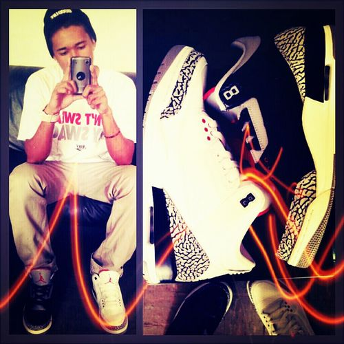 White/Black Cement Jordan Retro 3