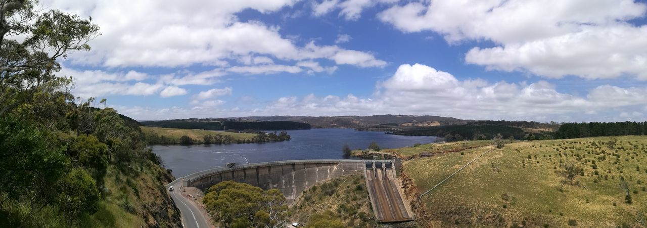 Myponga Resevoir Water Dam Cloud - Sky Tree Lake Outdoors Beauty In Nature Sky Nature