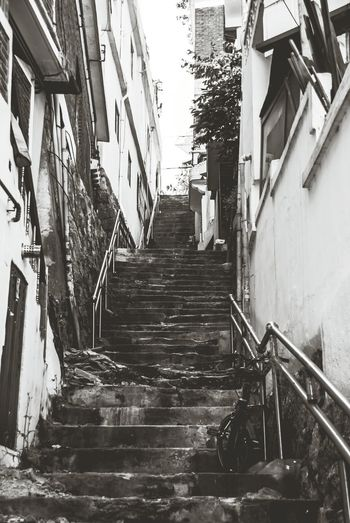 Blackandwhite Alleyway Seoul_korea Changsin Nikon D80 Nikonphotography Stairs Stairs_collection