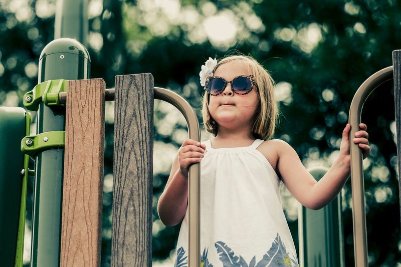 The Portraitist - 2017 EyeEm Awards Portrait Looking Up Sunglasses Smiling Playground Blonde Mood Warm Summer Springtime Spring Playing Play Instagood Instamood Instadaily Cool Sweet Portraits Ladder Fuji X-T1 Relaxing Relax Live For The Story
