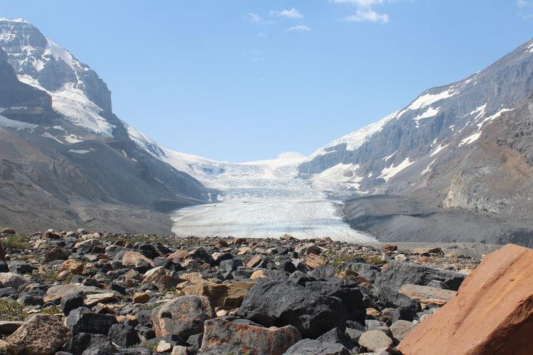 Melting Glacier Glacier Mountain Snow Landscape Mountain Range Snow Covered