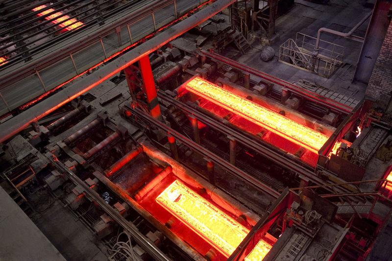Illuminated Conveyor Belts At Metal Industry