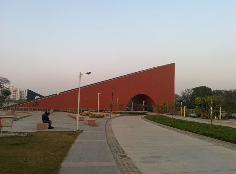 Architecture Archway Blue Sky Curved Road Curves And Lines Day Evening Light Evening Sky Geometric Architecture Geometric Shape Greenery Historic India Longshot Lucknow Modern Architecture Modernbuilding Museum No People Outdoors Public Places Red Sky Tourist Attraction  Tranquil Scene