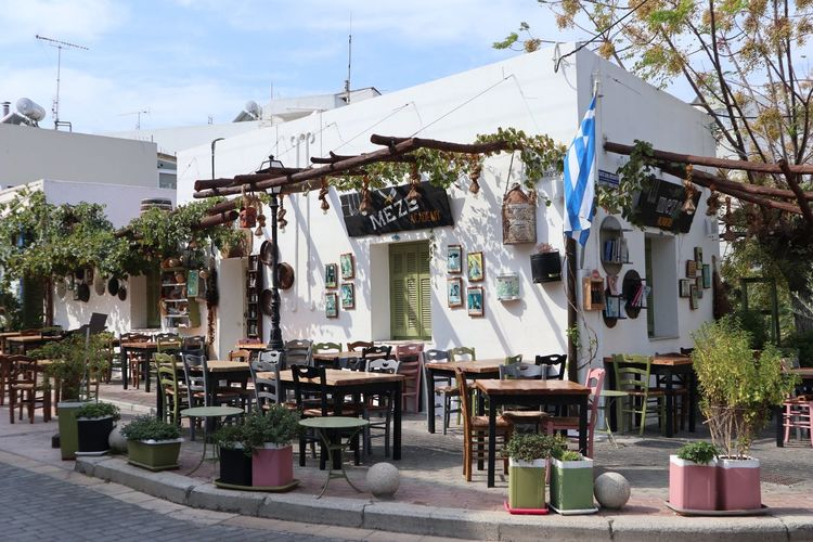 Travelphotography Greece Kos Taverna Plant Architecture Building Exterior Day Built Structure Tree Nature City Sky