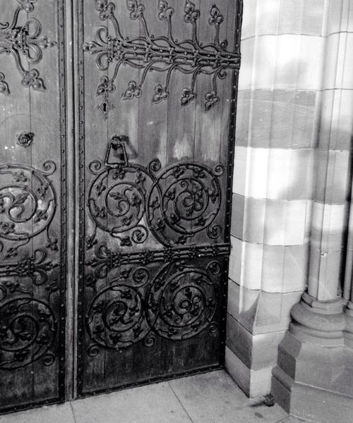 Bnw_friday_eyeemchallenge Doors From The Past Hereford Cathedral Ironwork  Decorative Hinges