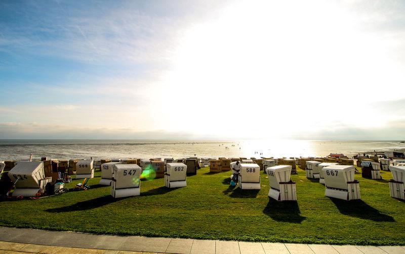 Nordsee Nordseeküste Beach Beachphotography Beach Chairs Water Summer Summertime Sun Sunny