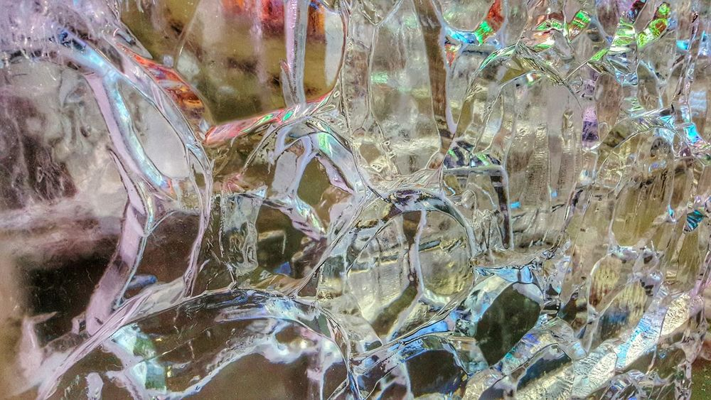 Ice Carving Art Clear Colorful Pattern Abstract Creativity Ice Festival Cripple Creek Colorado Close Up Macro EyeEm Best Shots EyeEm Gallery