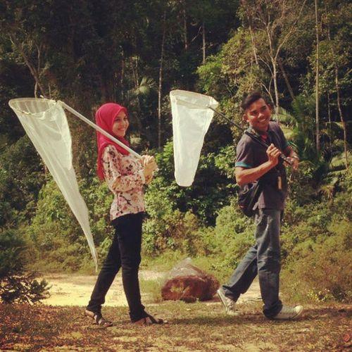 Cerita hari ini..kami bersama menangkap serangga..:-) Uitmn9 Hutan Lab