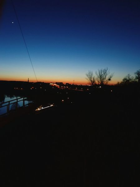 Sunset Sunset_collection Sunsets Nightphotography Night Lights On The Bridge Zhytomyr Zhytomyr, Ukraine