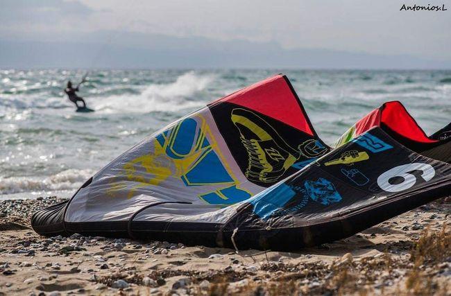 Kitesurfing GREECE ♥♥ Beach Sea Sand Water Nautical Vessel Outdoors Day