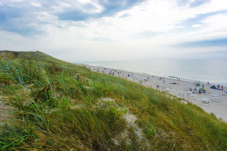 Beauty In Nature Cloud Cloud - Sky Cloudy Day Grass Green Color Horizon Over Water Idyllic Nature Non-urban Scene Northsea Outdoors Plant Scenics Sea Shore Sky Sylt Sylt Strand Sylt, Germany Sylt_collection Tranquil Scene Tranquility Water