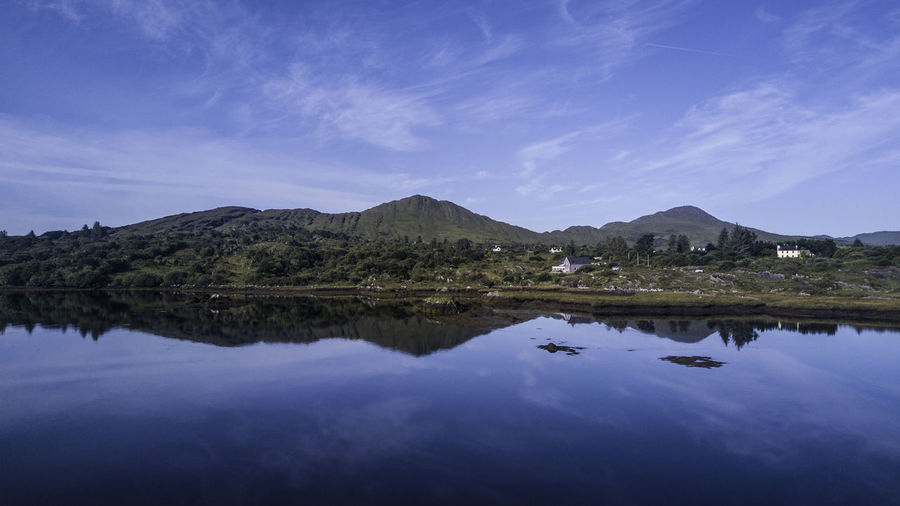 Water Reflection Sky Lake Scenics - Nature Waterfront Tranquility Tranquil Scene Beauty In Nature Mountain Cloud - Sky Nature No People Symmetry Blue Standing Water Idyllic Non-urban Scene Day