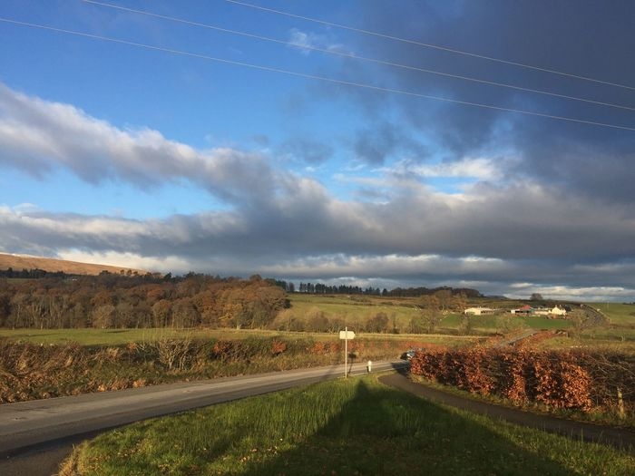 Today In Scotland Country Road The Way Forward Diminishing Perspective Road Landscape Nature Scenics Outdoors No People Horizon Over Land No Edit/no Filter Tranquil Scene Day Beauty In Nature Rural Scene Sky