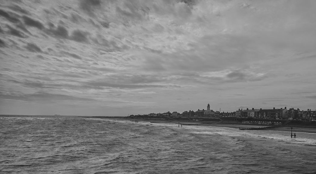 Beach Blackandwhite Coastline Lighthouse Outdoors Sea Sky And Clouds Southwold Water