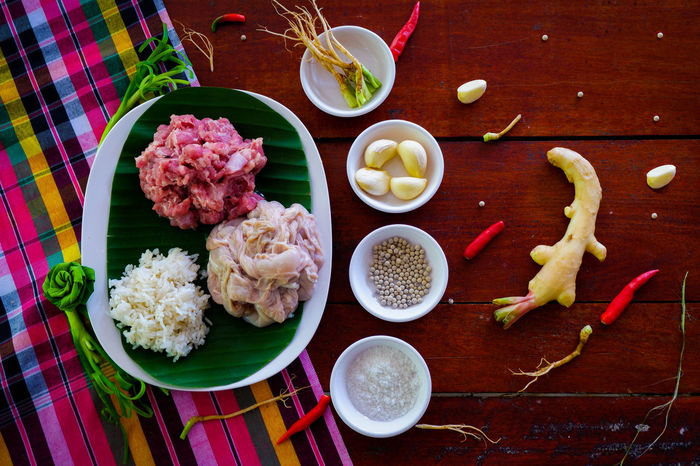 Thai Sausage Ingredient Thai Food Food Thailand Food Still Life Recipe Garnish Vegetable Asian Food Freshness Eating Utensil Tray Cooking Food And Drink
