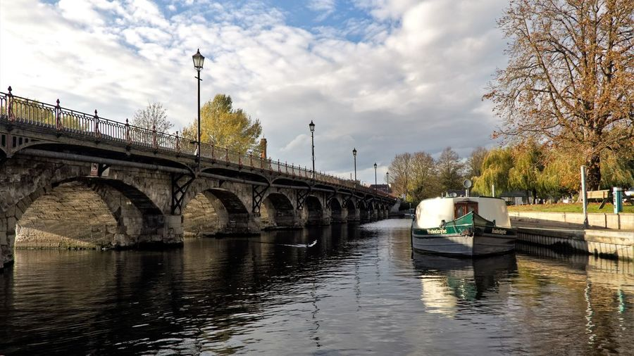 Clopton Bridge. Water Bridge Transportation Connection Bridge - Man Made Structure Built Structure River Sky Architecture Cloud - Sky Nature Mode Of Transportation Waterfront Nautical Vessel Tree Arch Day Plant Arch Bridge Outdoors No People EyeEmNewHere