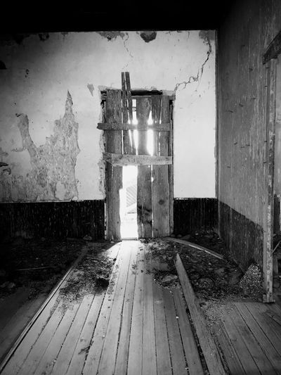 """""""Mystery Ranch No. 13"""" Follow The Light. New Mexico Photography New Mexico Mystery Black And White Photography Black & White Black And White Light Indoors  Abandoned No People Wood - Material Built Structure Architecture"""