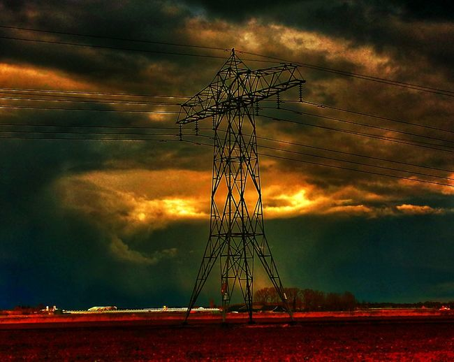 Landscape Electricity  Darksky The Field