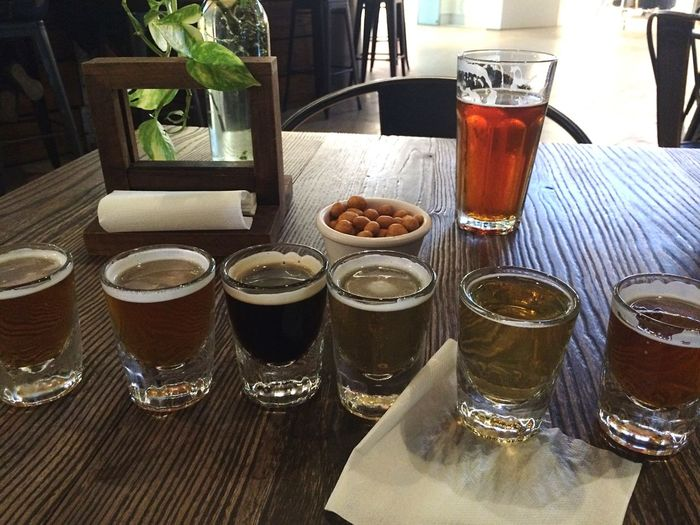 Beer Beer Flights Table Drinking Glass Drink Freshness Food And Drink Indoors  Refreshment Ready-to-eat Alcohol Frothy Drink Close-up Day