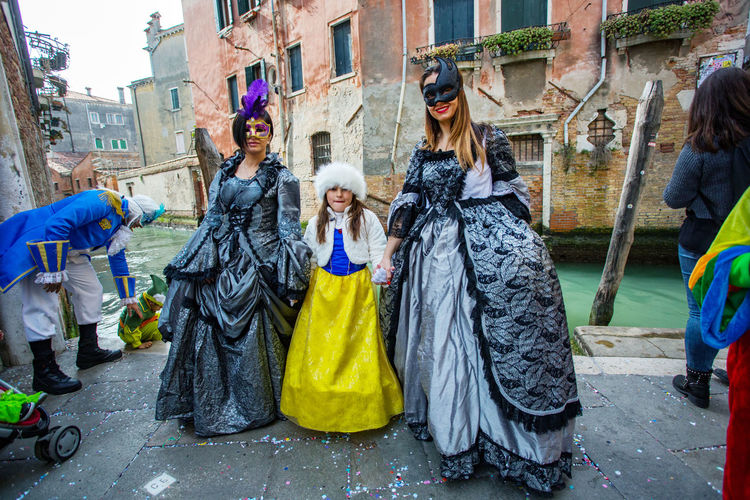 Carnival Carnivale In Venice Adult Adults Only Architecture Building Exterior Built Structure Carnival Costumes City Day Full Length Men Outdoors People Performance Real People Women